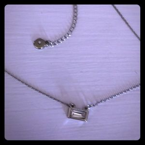 Maurices  Silver Dainty Crystal Bar Necklace NWT!!